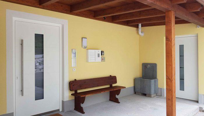 Eingangsbereich aussen Villa Lilly Bad Ischl